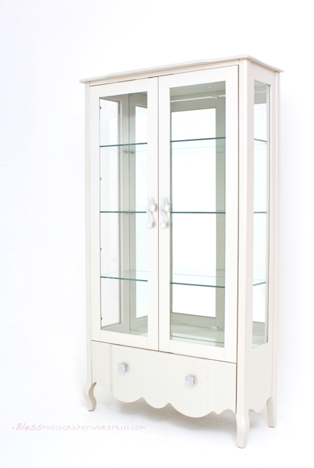 mirror glass white cupboard
