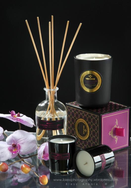 spa aroma candle light